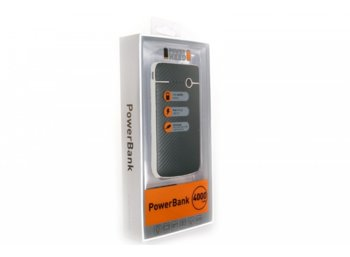 SUNEN PowerNeed - Powerbank 4000mAh,  USB 5V, 1A, LED, czarno-srebrny
