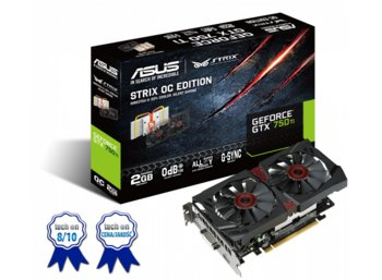 Asus GeForce GTX 750 Ti STRIX 2GB DDR5 128BIT DV/HD/DP BOX