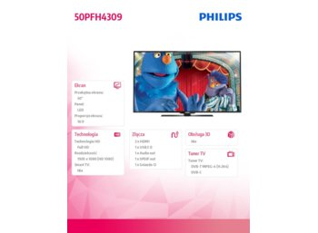 Philips 50'' LED  50PFH4309