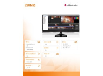 LG Electronics 25'' 25UM55 LED 21:9 IPS 5ms 5000000:1 HDMIx2