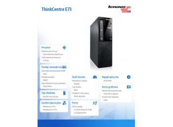 Lenovo ThinkCentre Edge73 SFF 10AW008MPB Win7Pro&Win8.1Pro G3240/4GB/500GB/Integrated/DVD/3 Yr OS