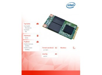 Intel 525 120GB mSATA3 550/500MB/s 3,6mm OEM Pack