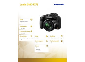Panasonic Lumix DMC-FZ72 black