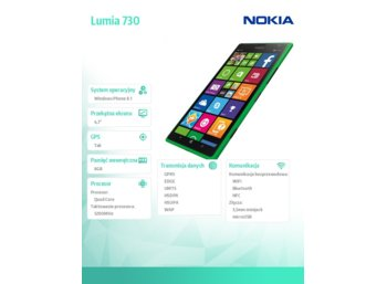 Nokia Lumia 730 DS GREEN