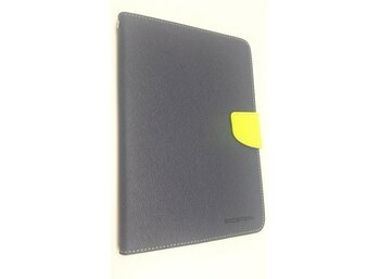 wel.com Etui skórzane Fancy do Apple iPad Mini 2 granat - limonka