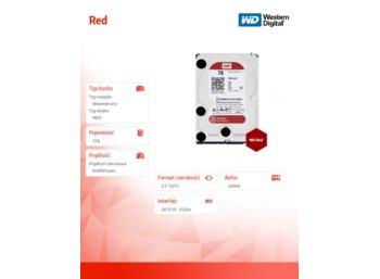 Western Digital Red WD50EFRX 5TB 64MB  SATAIII 7200RPM